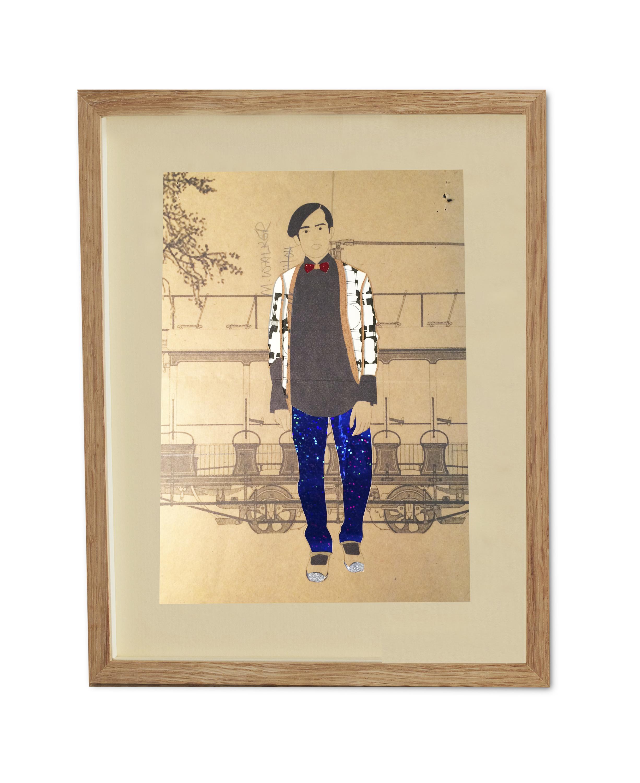 Dapper Walker  , 2015  38.2 x 29.6 cm (framed) £440