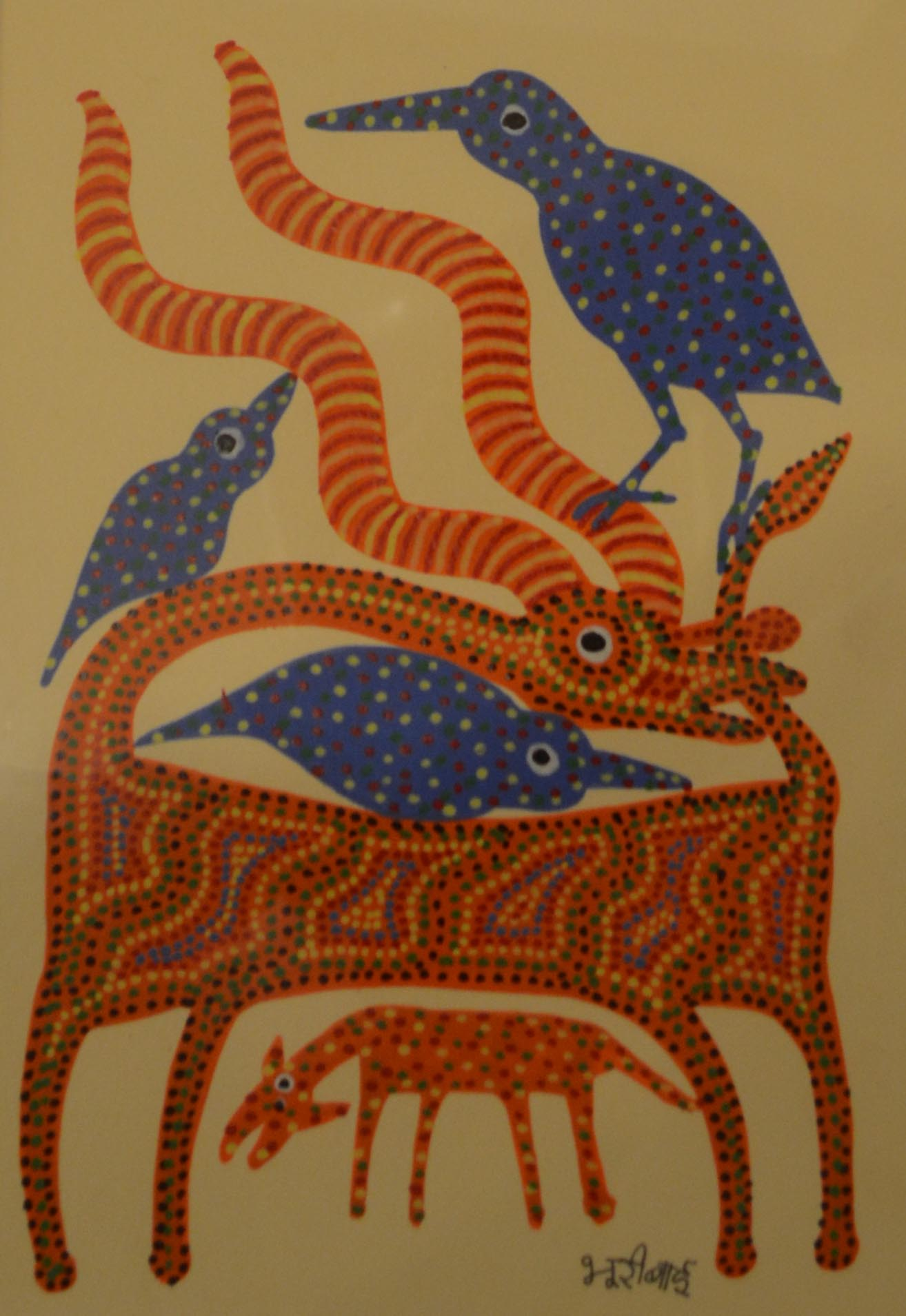 Bhuri Bai, acrylic on paper, 24x17 cm, 2015.jpg