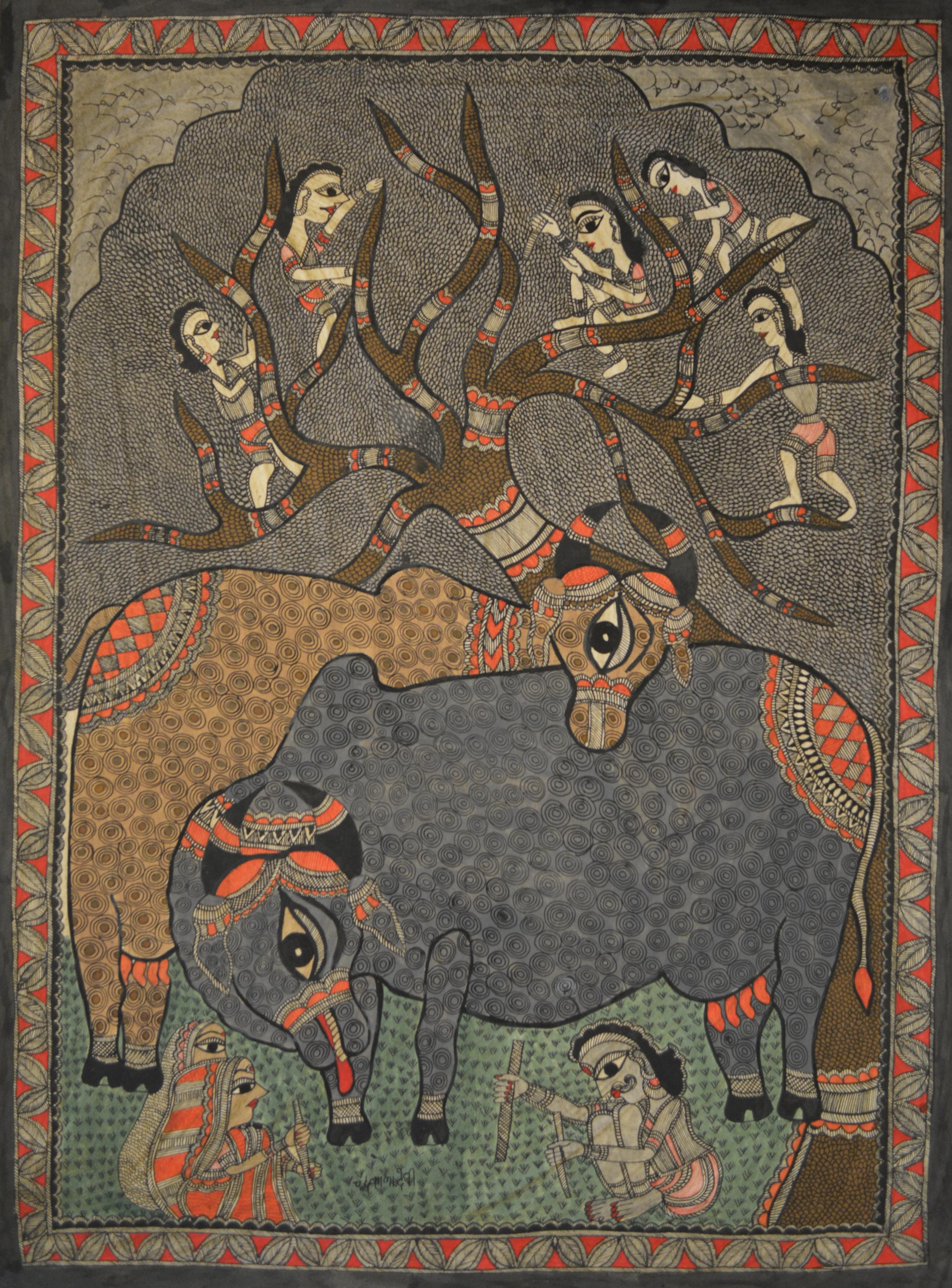 Chandrakala Devi, untitled, acrylic on paper, 77x57cm, 2014.jpg