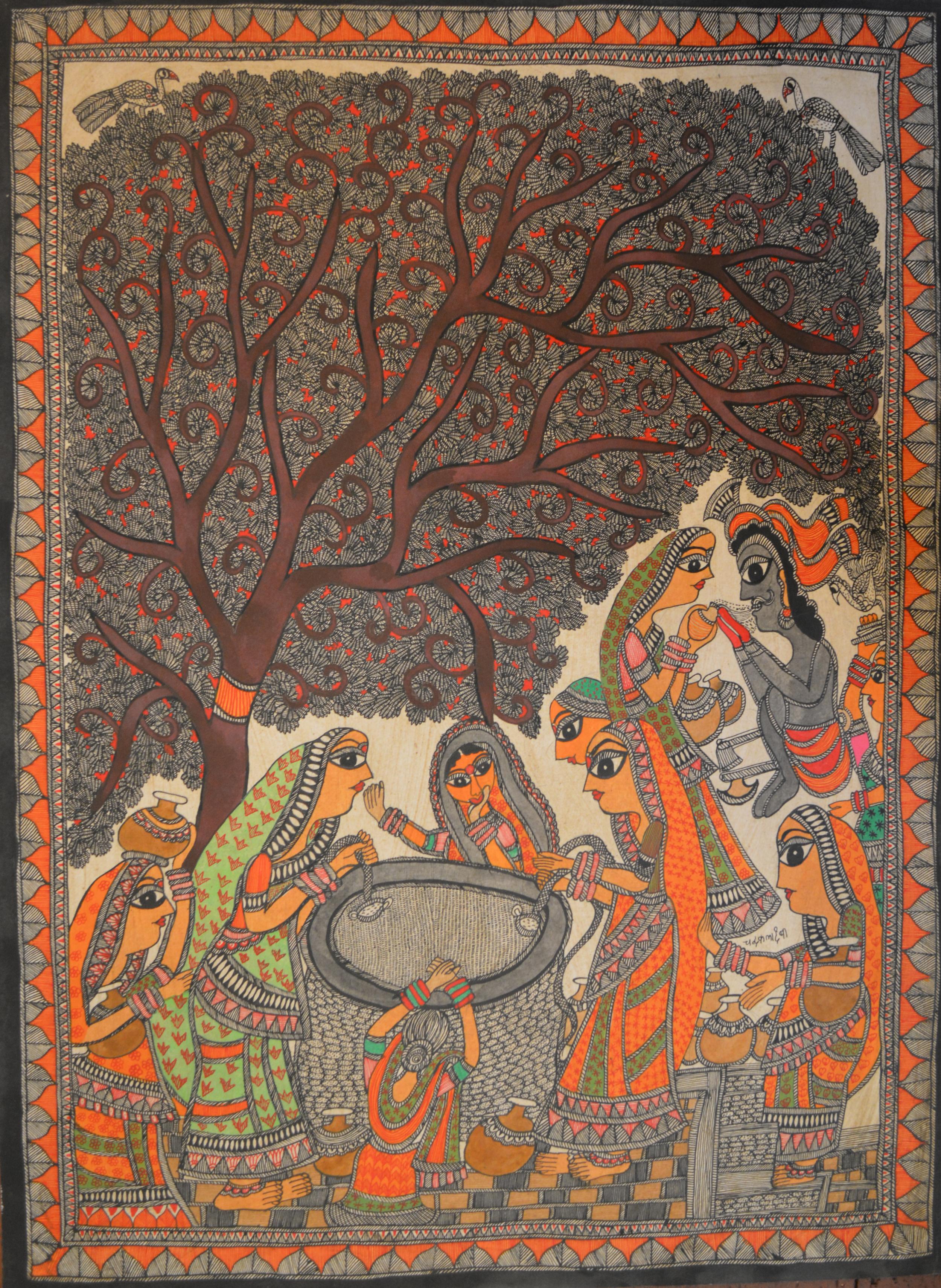 Chandrakala Devi, untitled, acrylic on paper, 76 x 56 cm, 2014.jpg