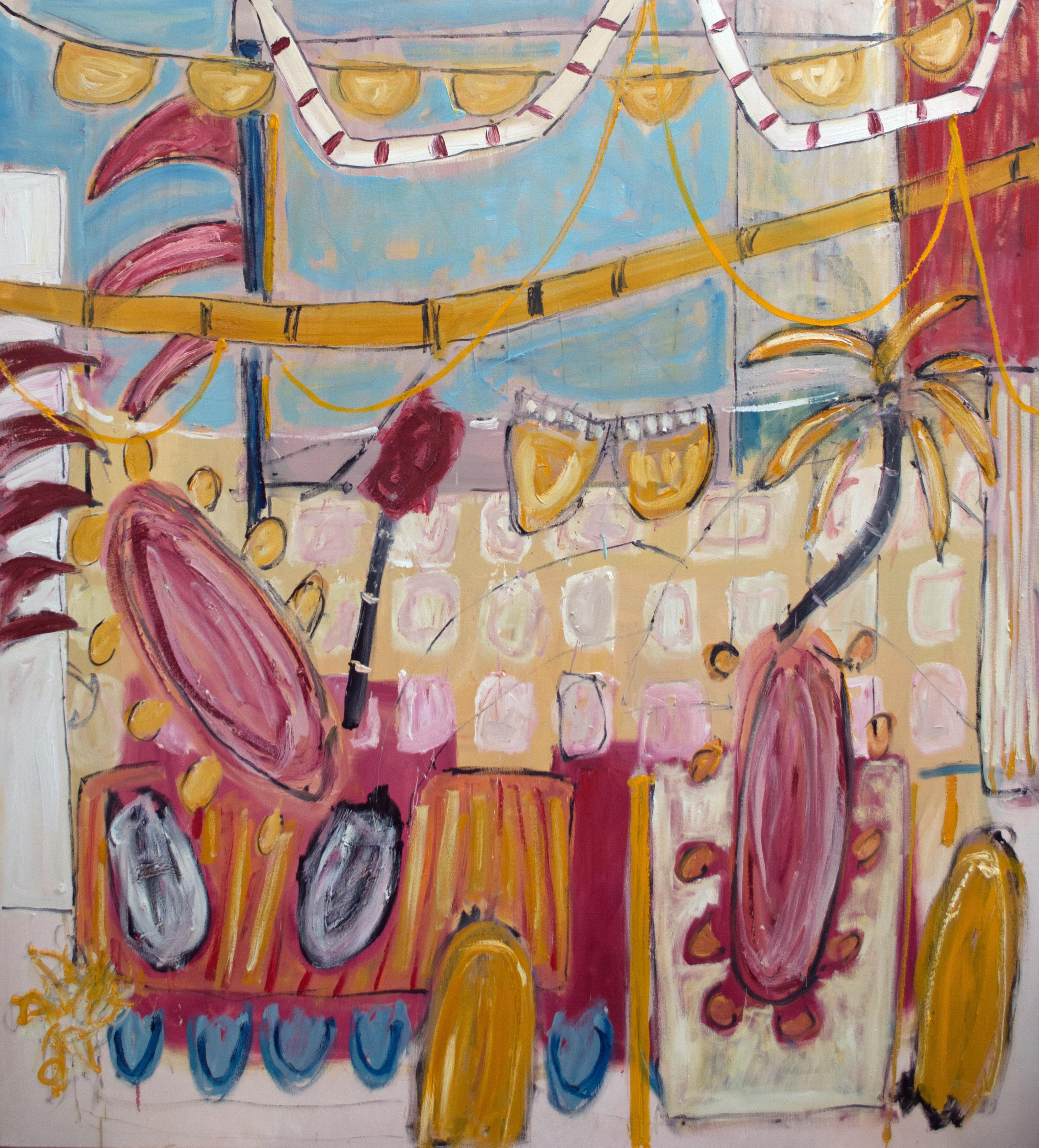 Alec Cumming, Agonda, oil on canvas, 168x152cm, 2015.jpg