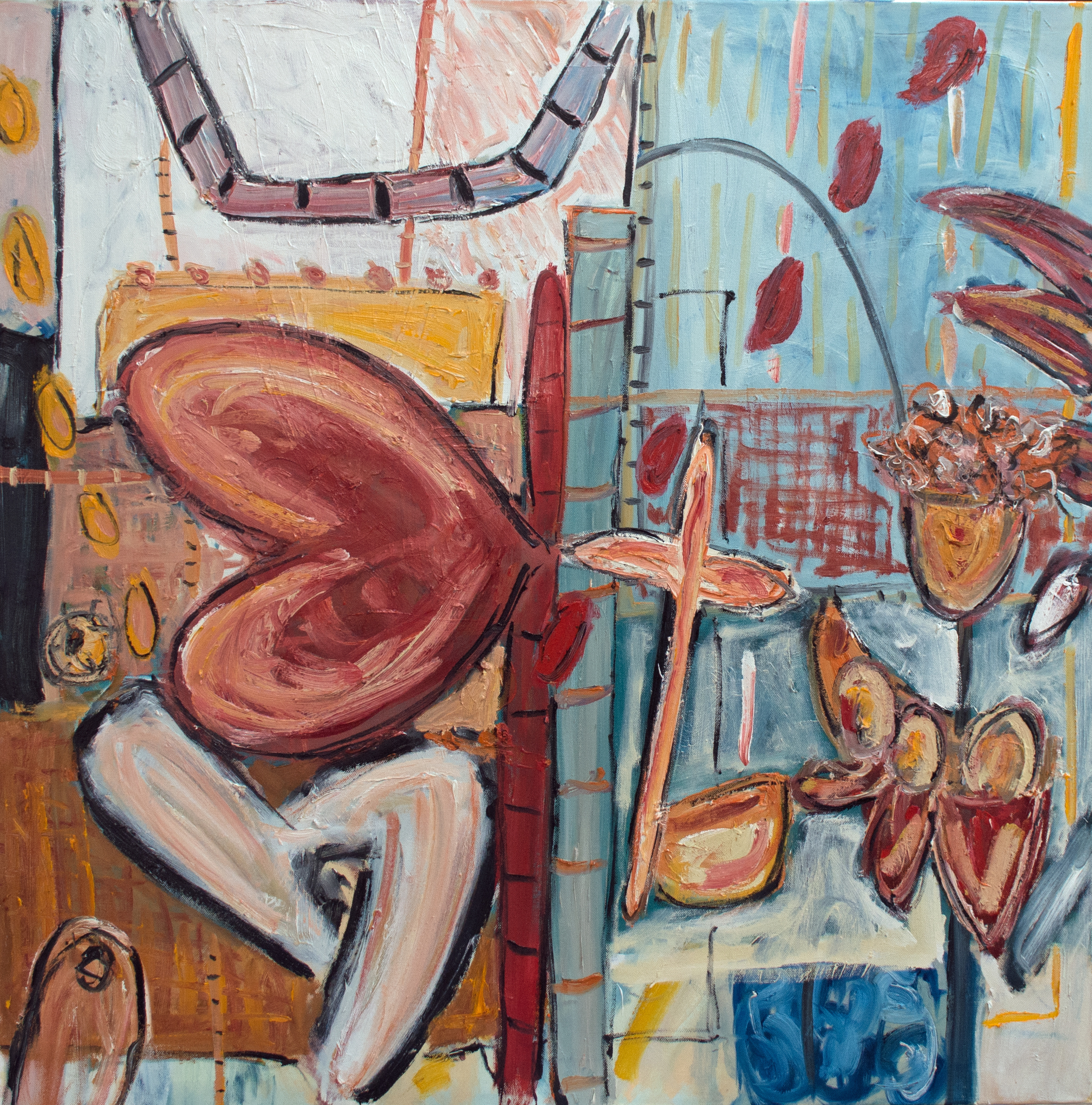 Alec Cumming, Cross My Heart, oil on canvas, 100x100cm, 2015.jpg