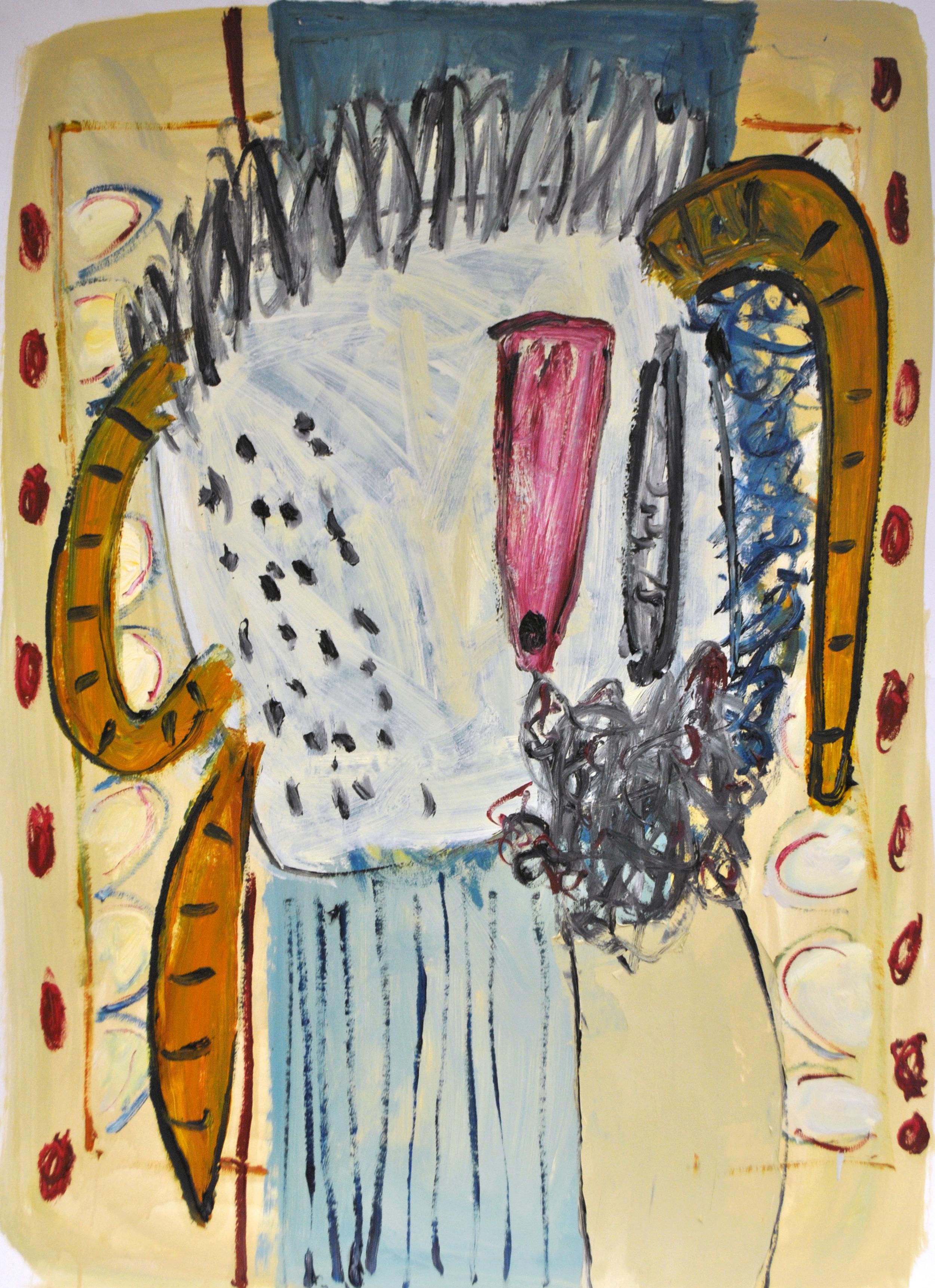 Alec Cumming, Hallaballoo, oil on paper, 91x69cm, 2015.jpg