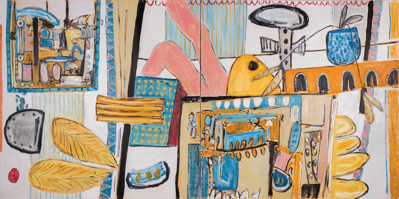 Alec Cumming | Betwa Adventures | 152cm x 305cm | oil on canvas | £10,000