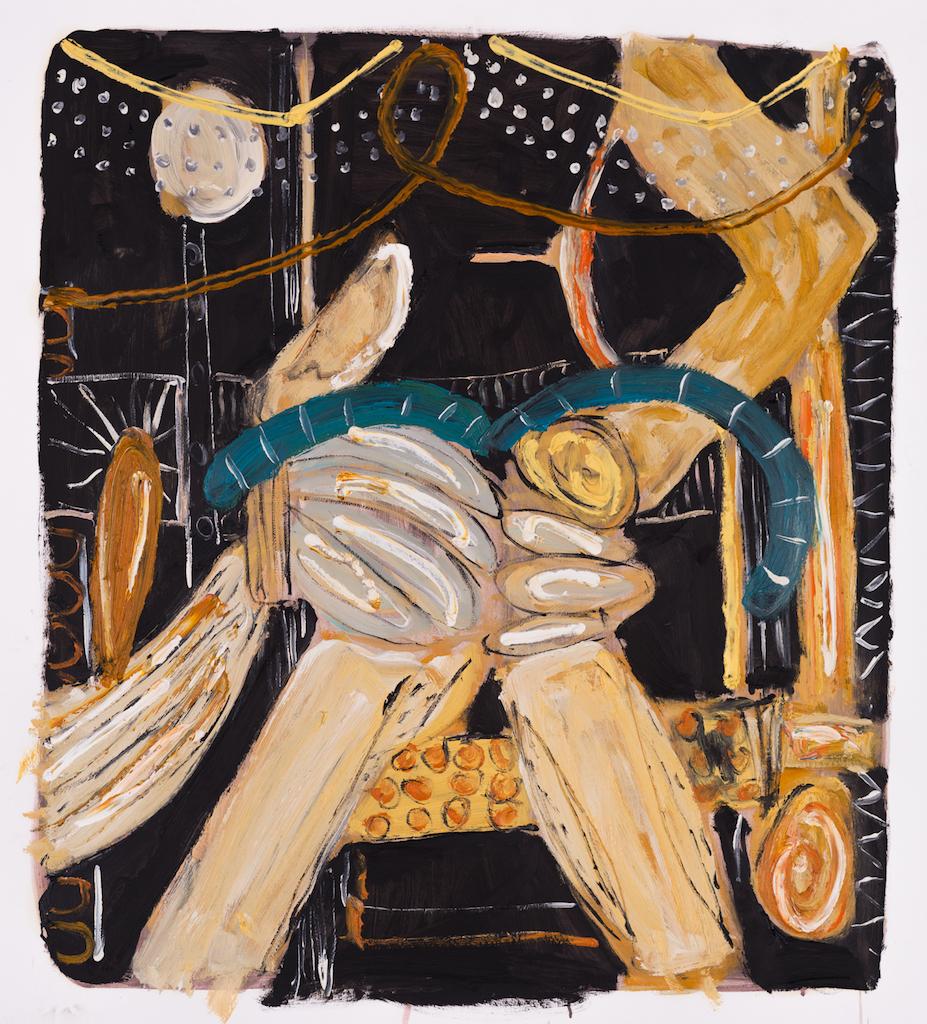 Alec Cumming | Lodhi Picnic | oil on paper | 74cm x 64cm | £1800