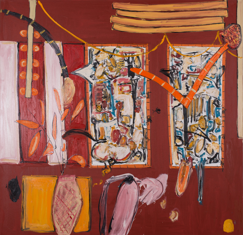 Alec Cumming | The Spirited Night | oil on canvas | 152cm x 152cm | £4500