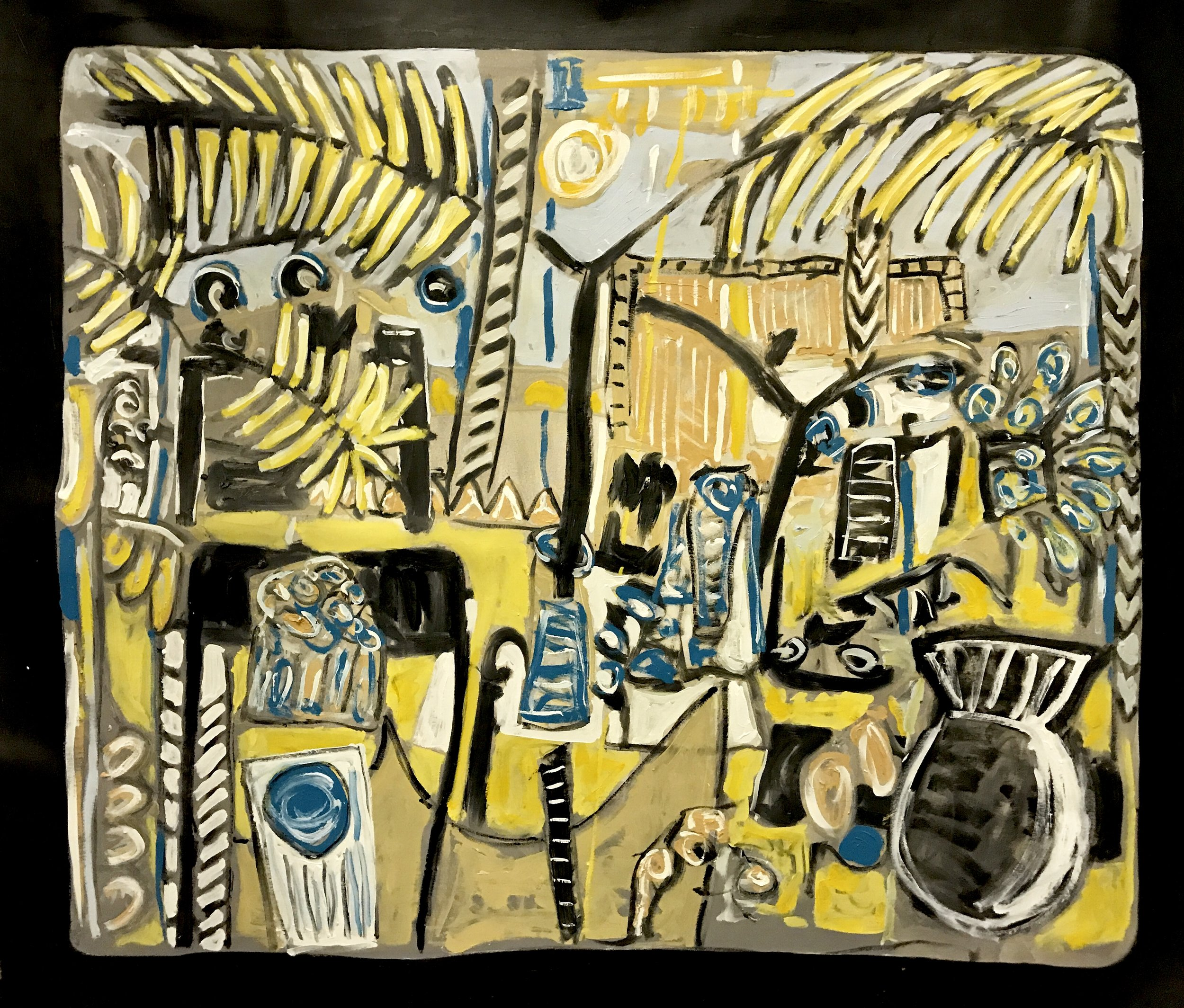 Alec Cumming | Under Lodhi Moonlight | oil on canvas | 140 x 160 cm | £5200