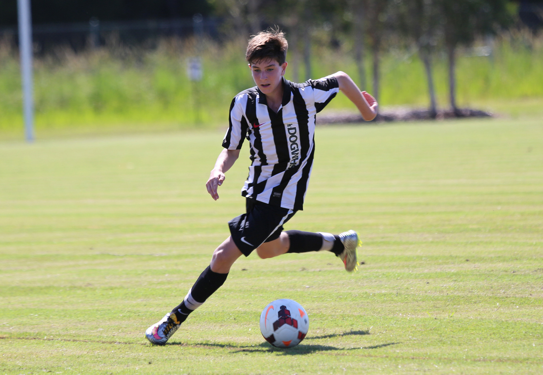 Under 16 striker Zac Sezer opened the scoring for Byron