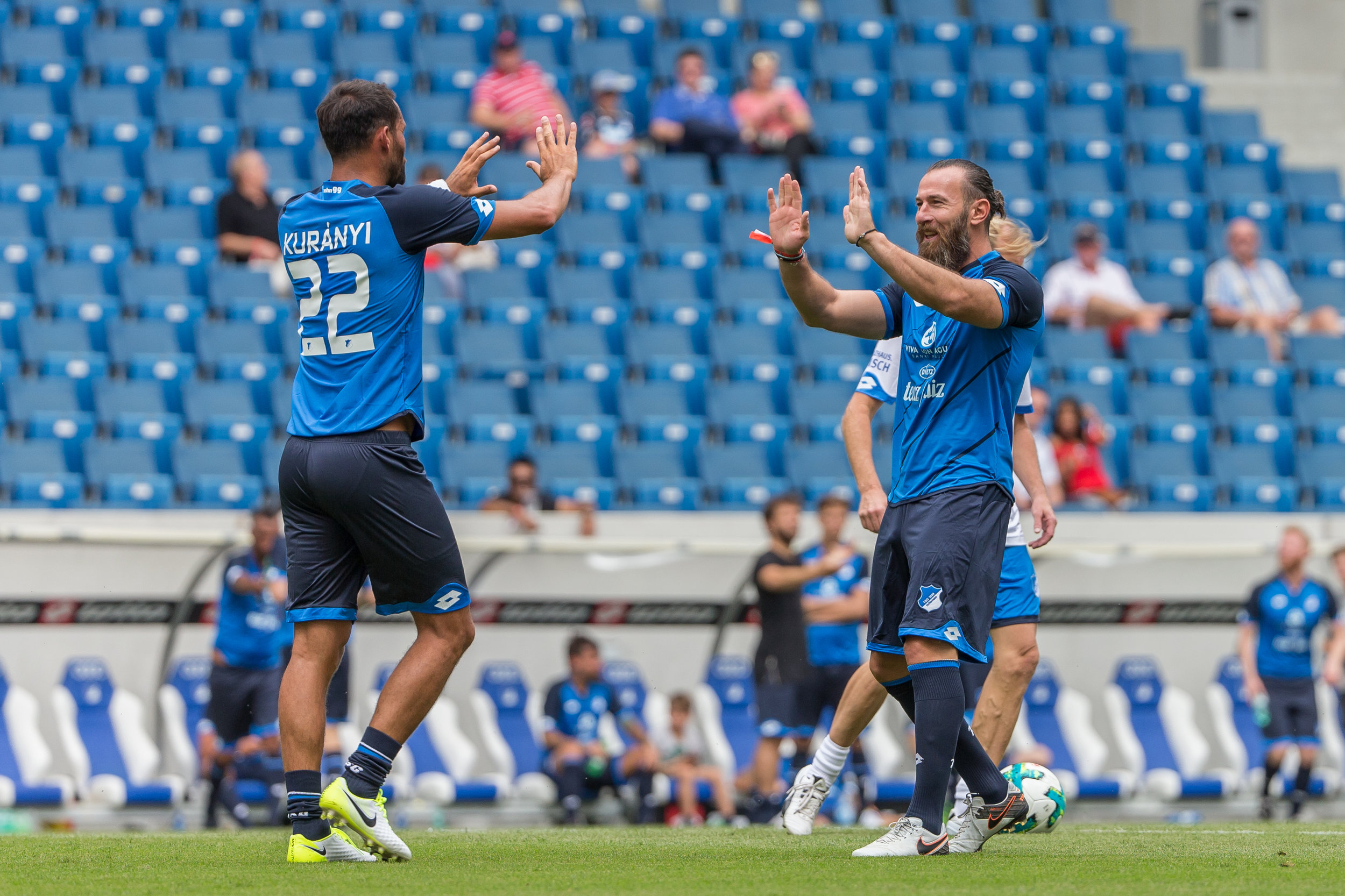 Kuranyi celebrates after another goal for the All-Stars.