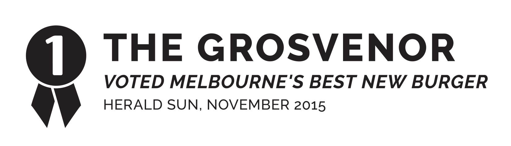 STKBB | The Grosvenor, Melbourne's best new burger as voted by the Herald Sun, November 2015