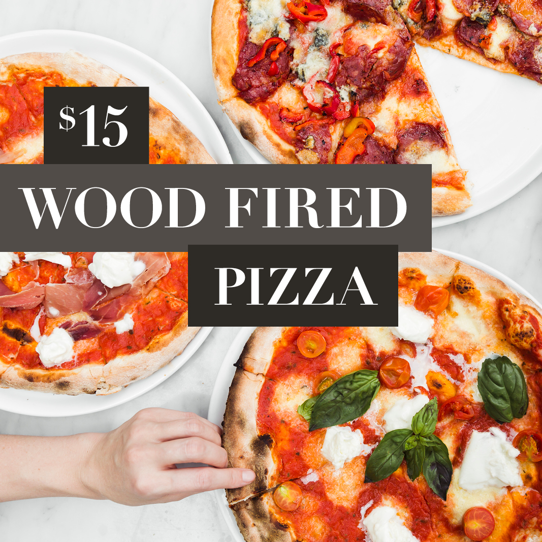 Grosvenor Hotel | Wood fired pizza available for pick up