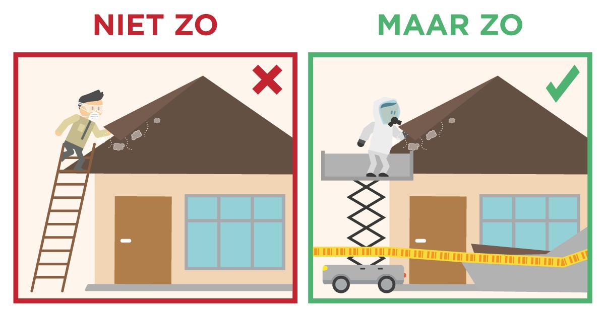 In de meeste gevallen moet je asbest laten verwijderen door een gecertificeerd bedrijf.