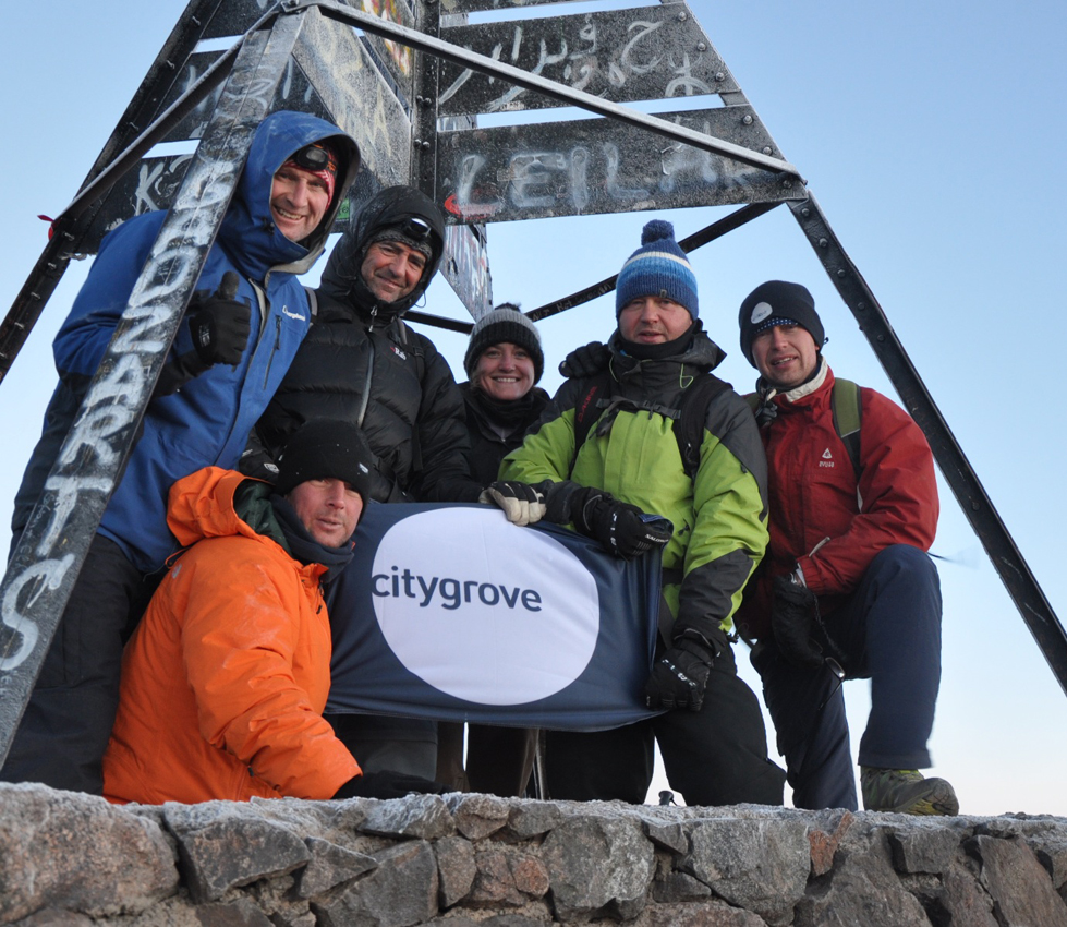 At 6.30am on the 16th May 2013 the team from Citygrove and Legal & General Property reached the summit of Mt Toubkal after a tiring trek up in -25 degree temperatures and 50mph+ winds
