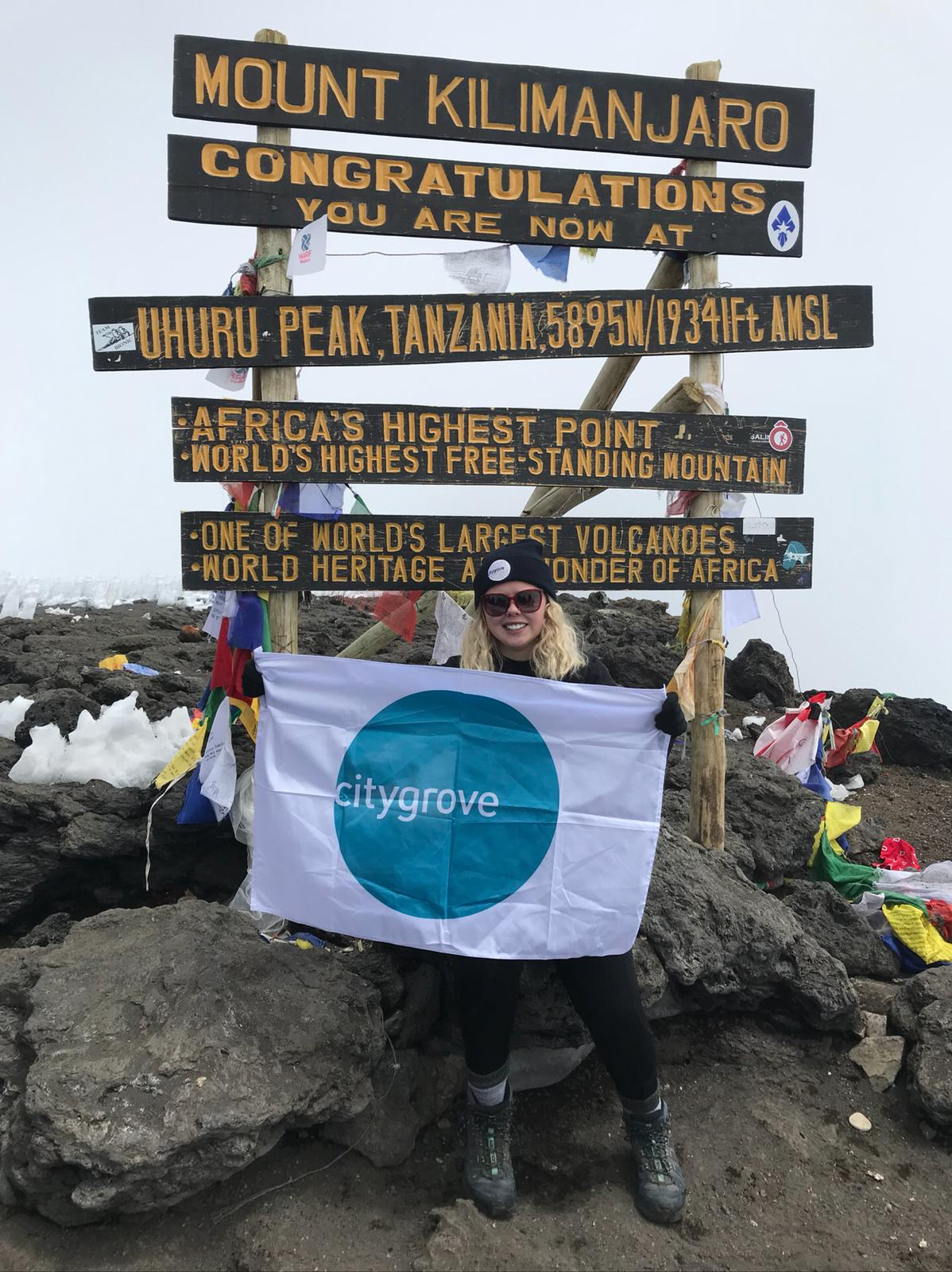 Citygrove was delighted to sponsor Abbi Sheehan on her successful climb up Kilimanjaro in August 2018, raising over £3,000 for Hope for Children.