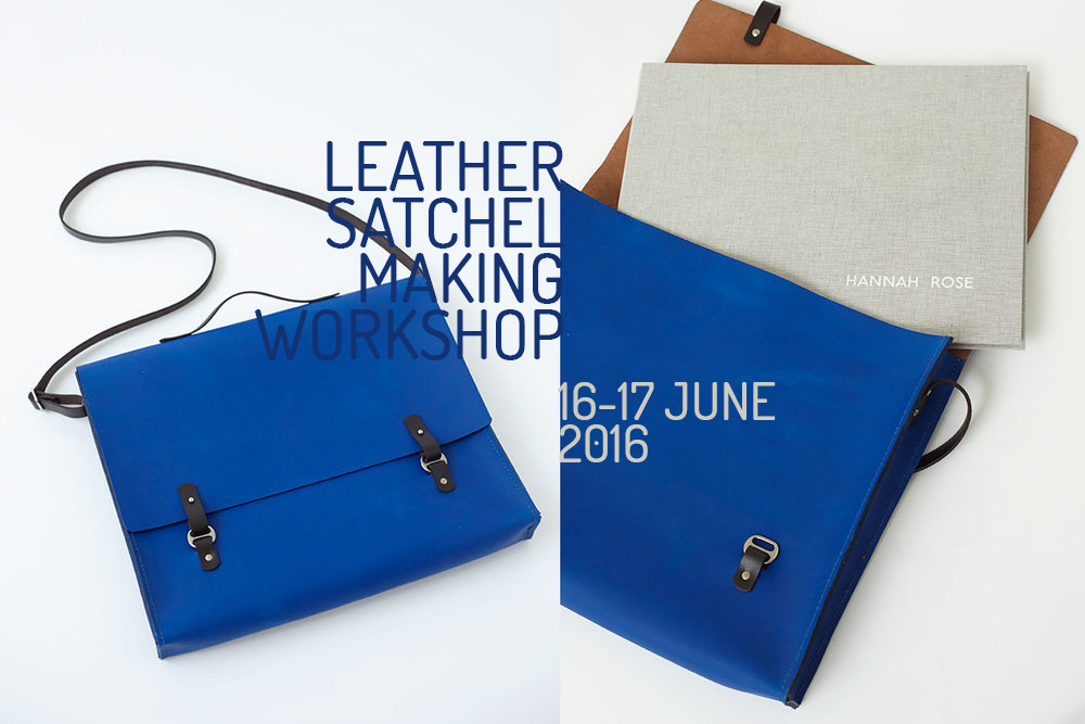 Join us for our June Satchel Making Workshop @ Cockpit Arts Studios. Click on the image to book your place.