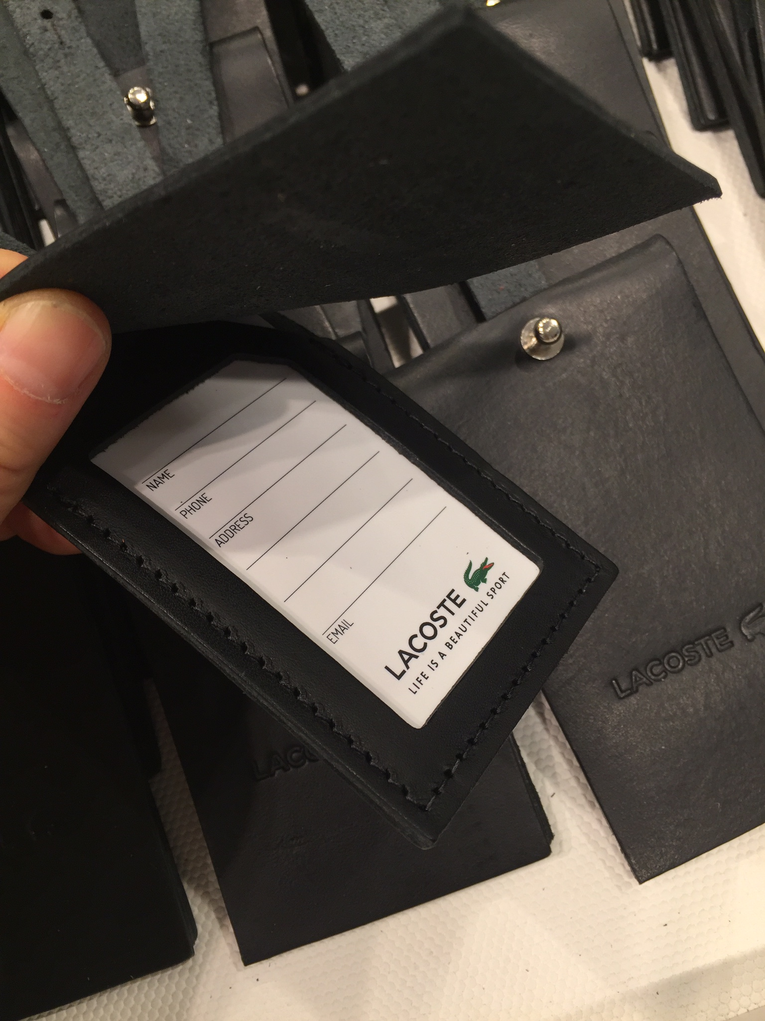 Lacoste luggage tag