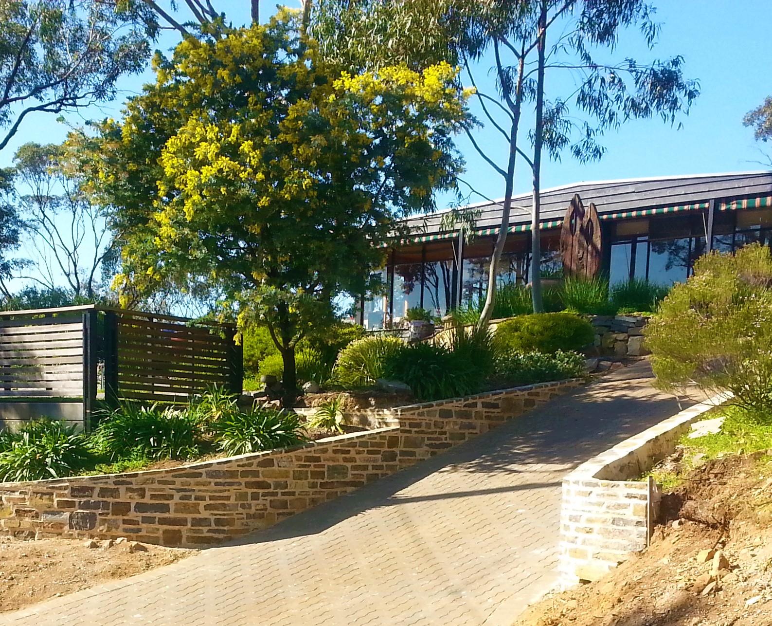 Entry retaining walls. Blackwood, Adelaide, South Australia