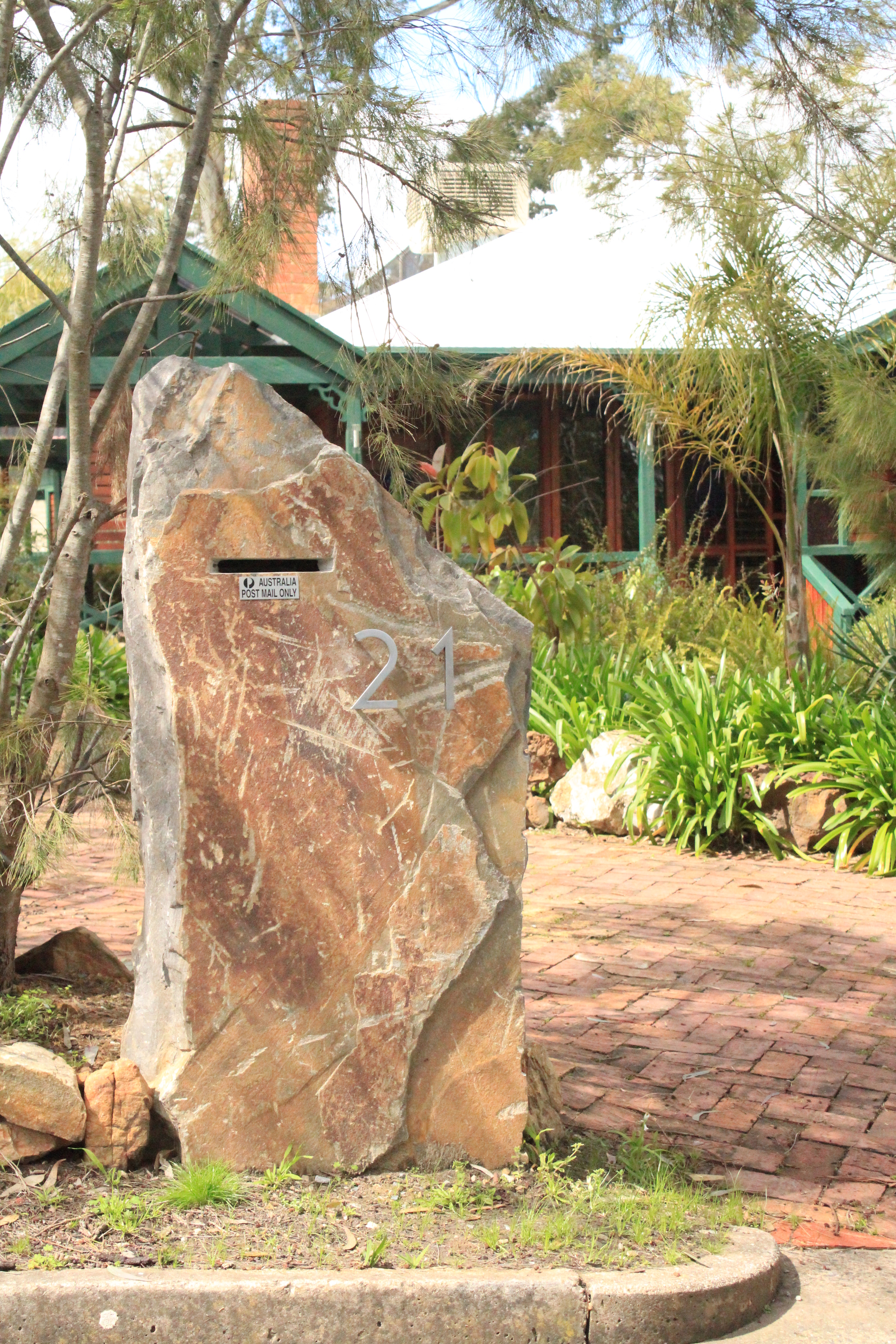 Stone feature constructed by JRM Stonework, Adelaide, South Australia