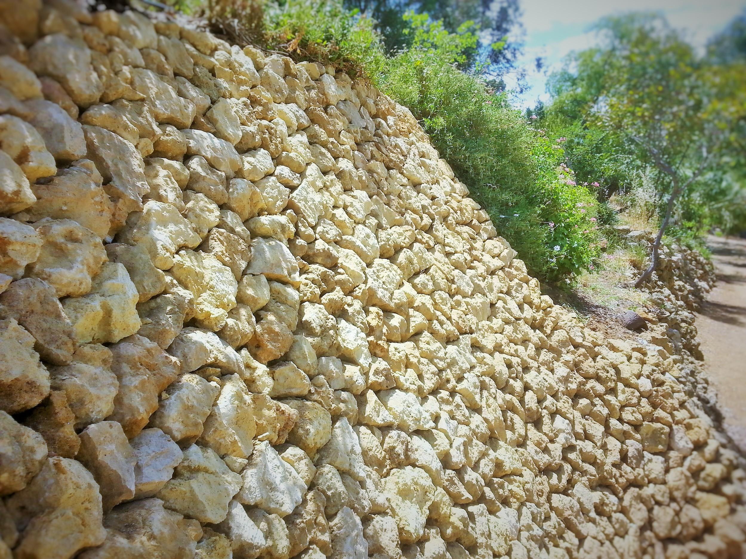 Dry Stone Retaining Wall Repair. Mannum, South Austalia