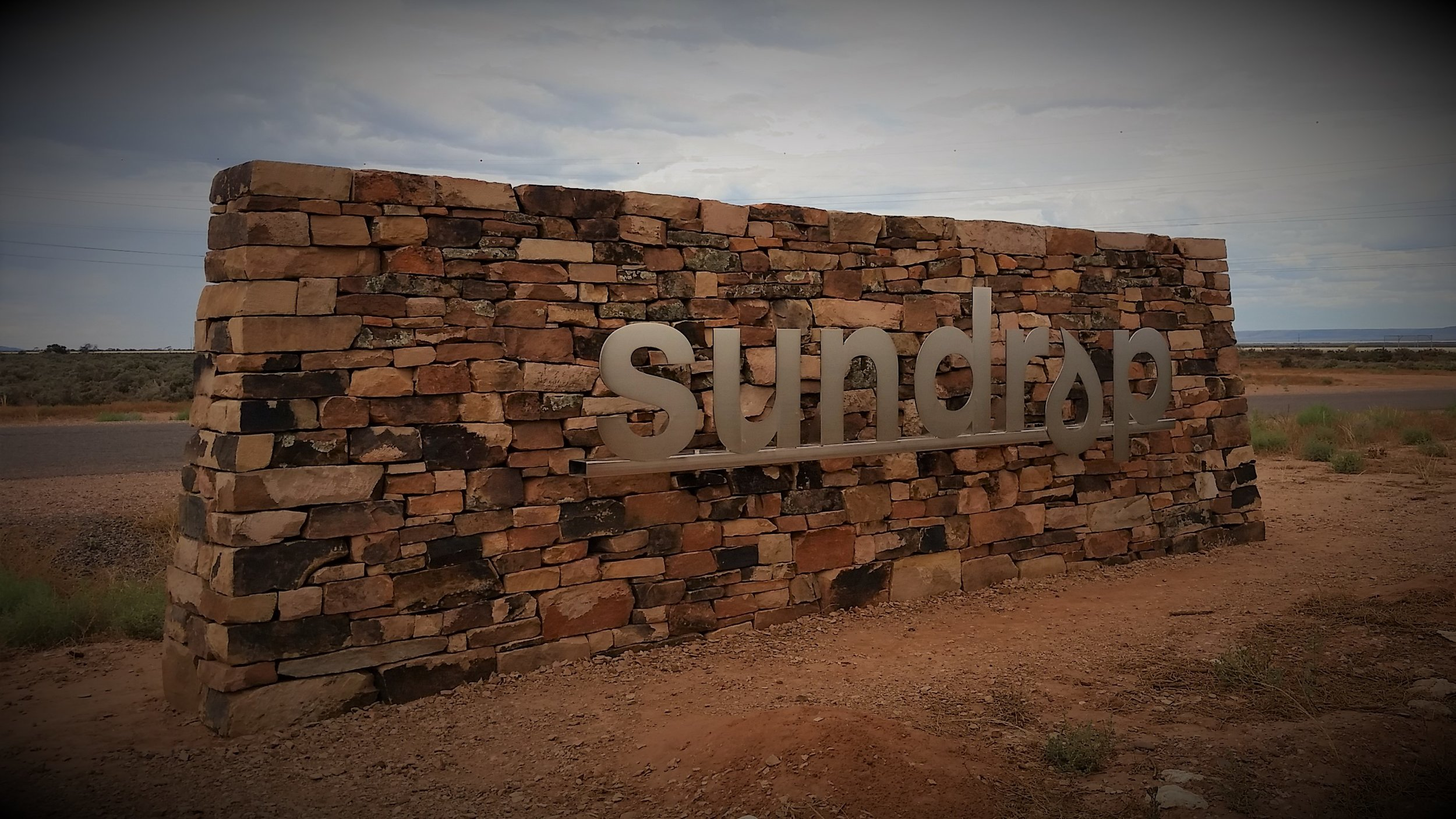 Traditional Dry Stone Wall. Pt Augusta, South Australia