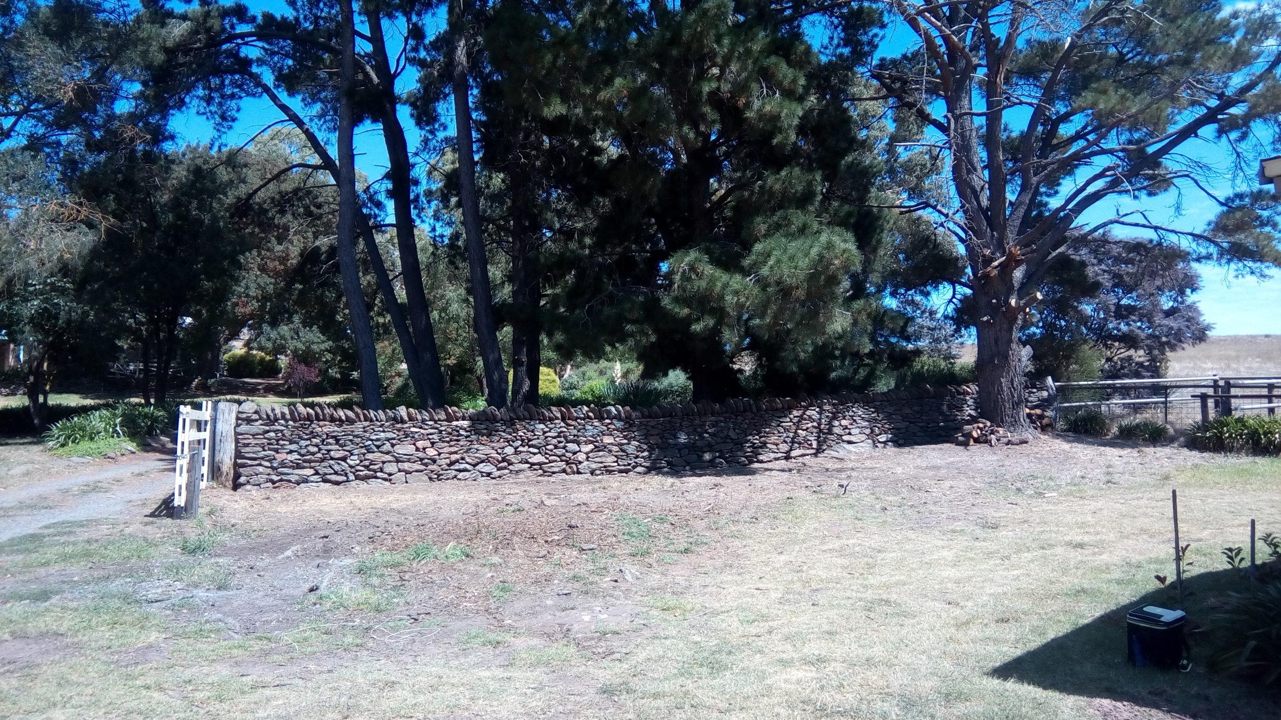 Dry Stone Entry Walls, Wistow, South Australia