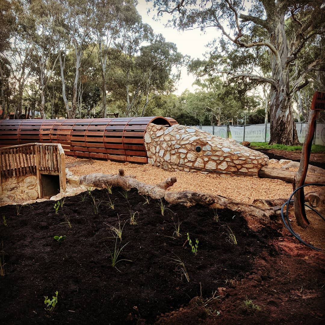Stonyfell Quartzite Snakes Head Playground Feature. Morialta, Adelaide, South Australia