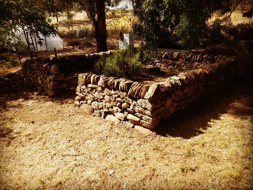 Dry Stone Walled Garden. Humbug Scrub, South Australia