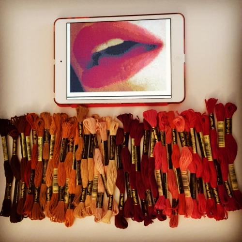 Plotting my Lips. I love the colors!