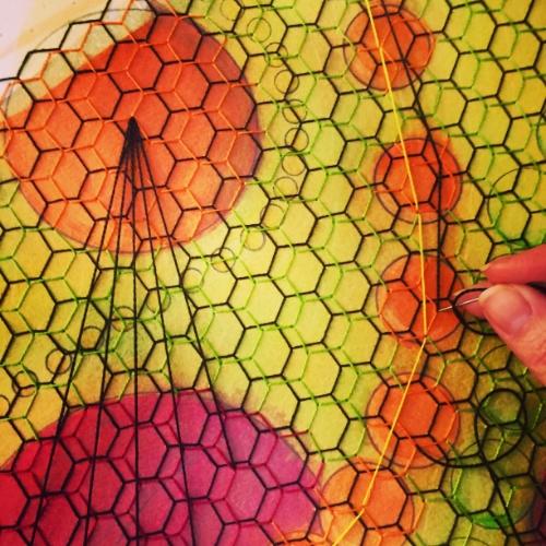 Stitching.
