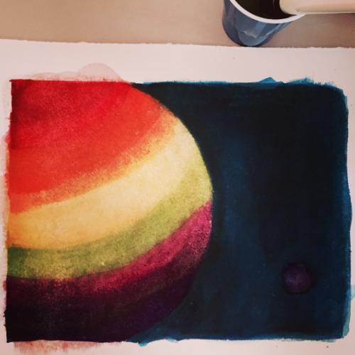 WIP: Purple planet.