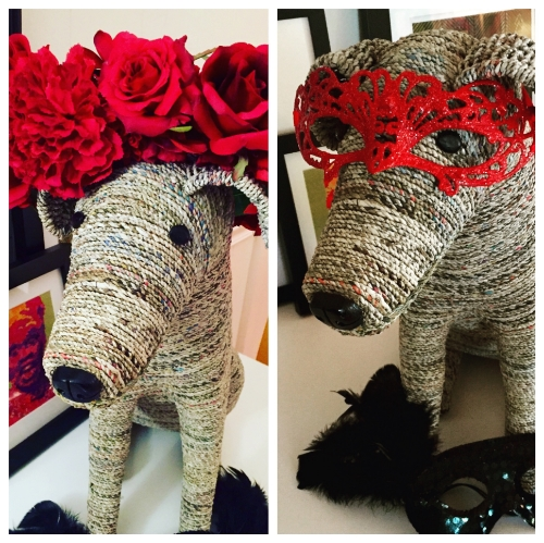 I hope I look as good as Arturo, the art hound, in my costume.