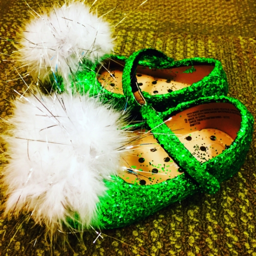 Tinkerbell slippers for a 4-year-old.