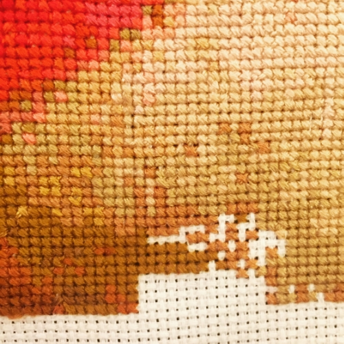 Almost there... stitching in the middle of the night.