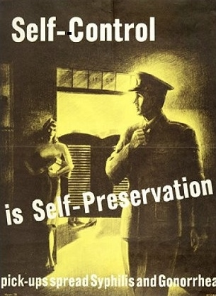 WW 2 era prevention poster. The lure.