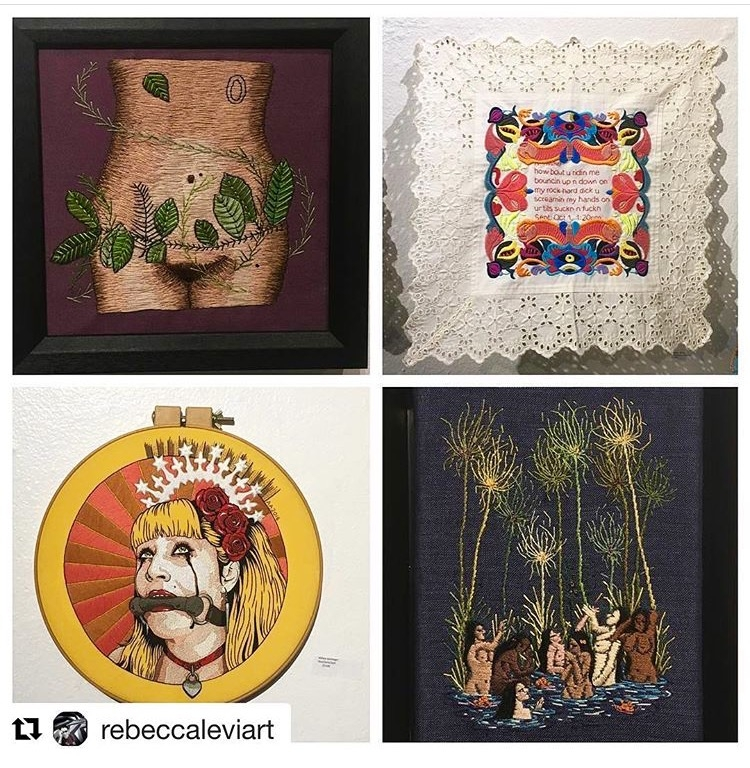 Reposted from  Rebecca Lev i my work (top left) along with  Kathryn Shinko ,  Michelle Kingdom  and Abbey Aichinger.  Illustrious company!!