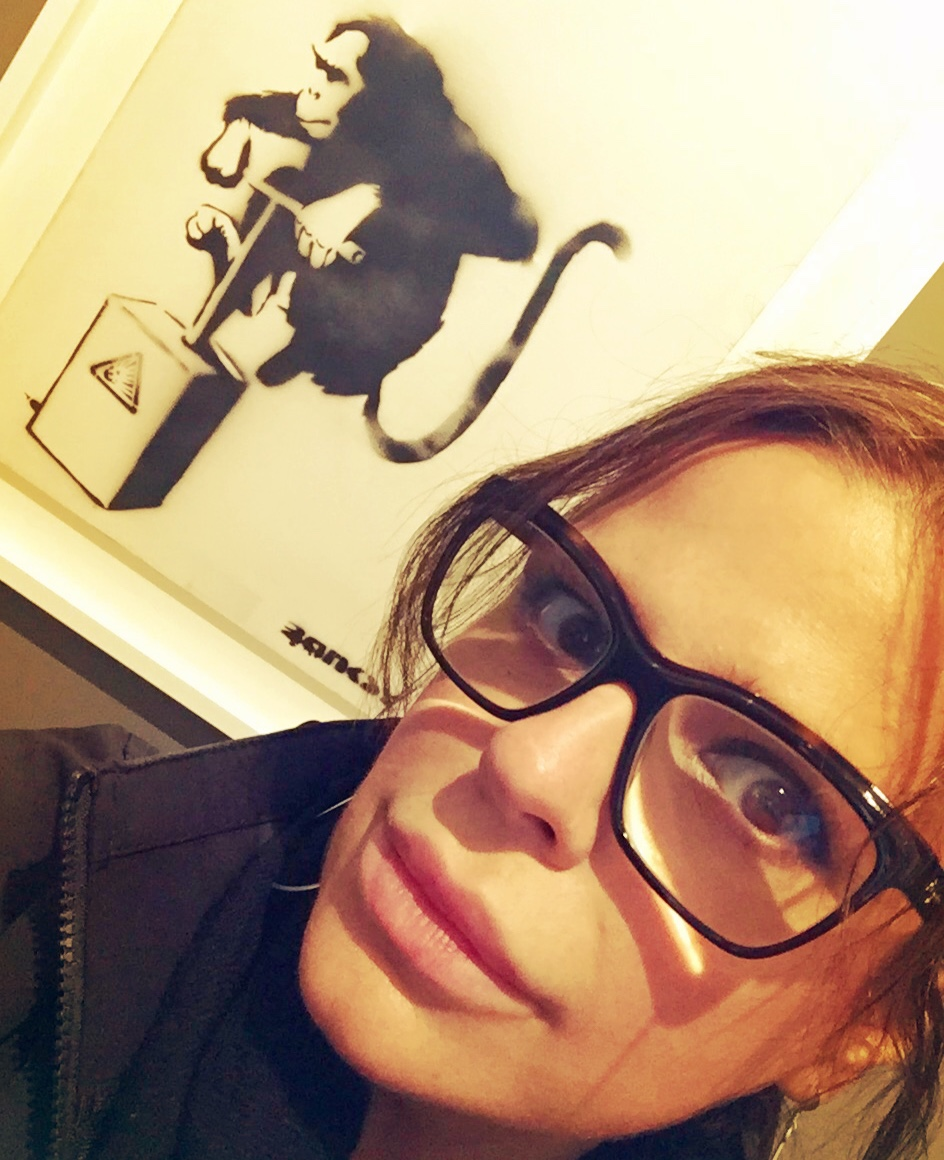 Selfie with Banksy, my fellow citizen.