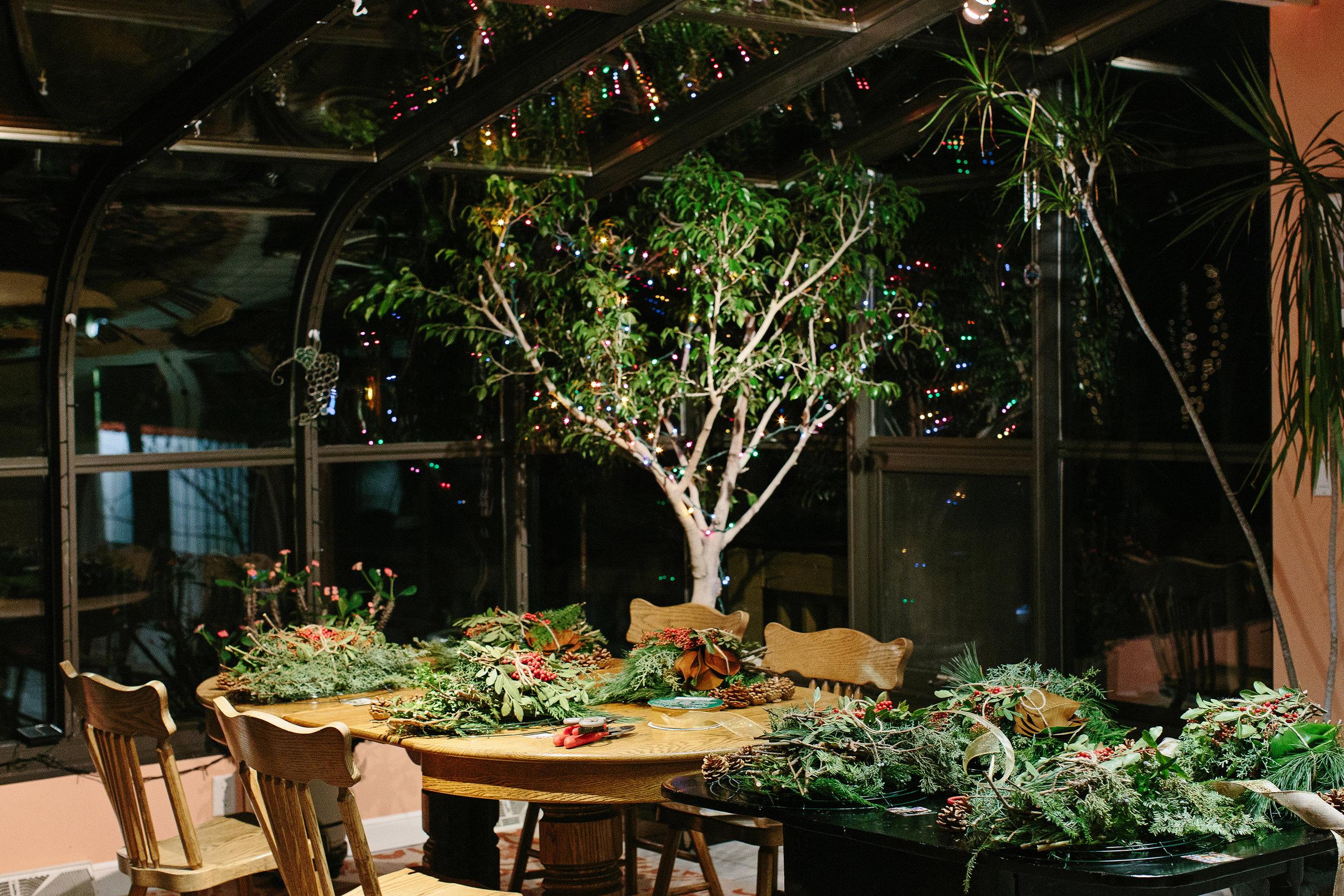 Oakmoss Collective Wreath Workshop