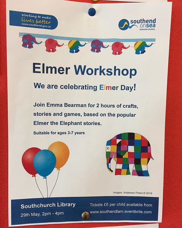 School Holiday fun at your local library #Southchurchlibrary #Elmer #booktime @southendlam  29th May