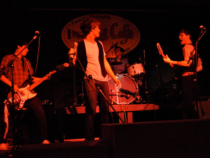Original LIne-Up from L to R: Ryan Tidwell (Bass), Kaleb Wells (Vox), Adam Gray (Drums), Kenny Gray (Guitar/Vox)