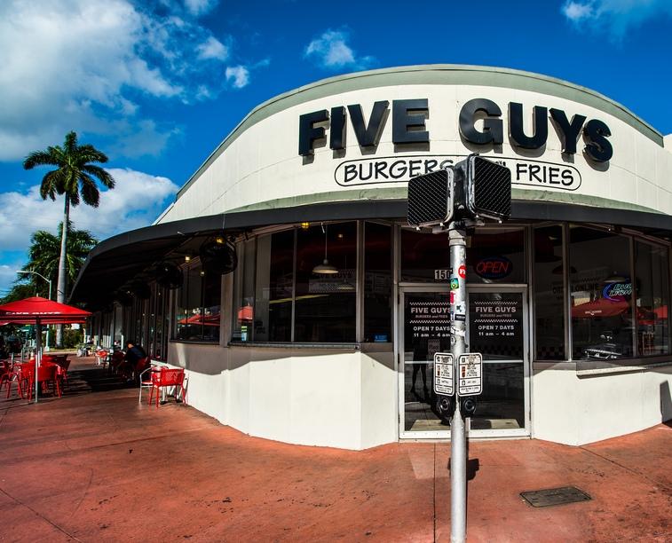 Five Guys Miami, Washington Avenue.