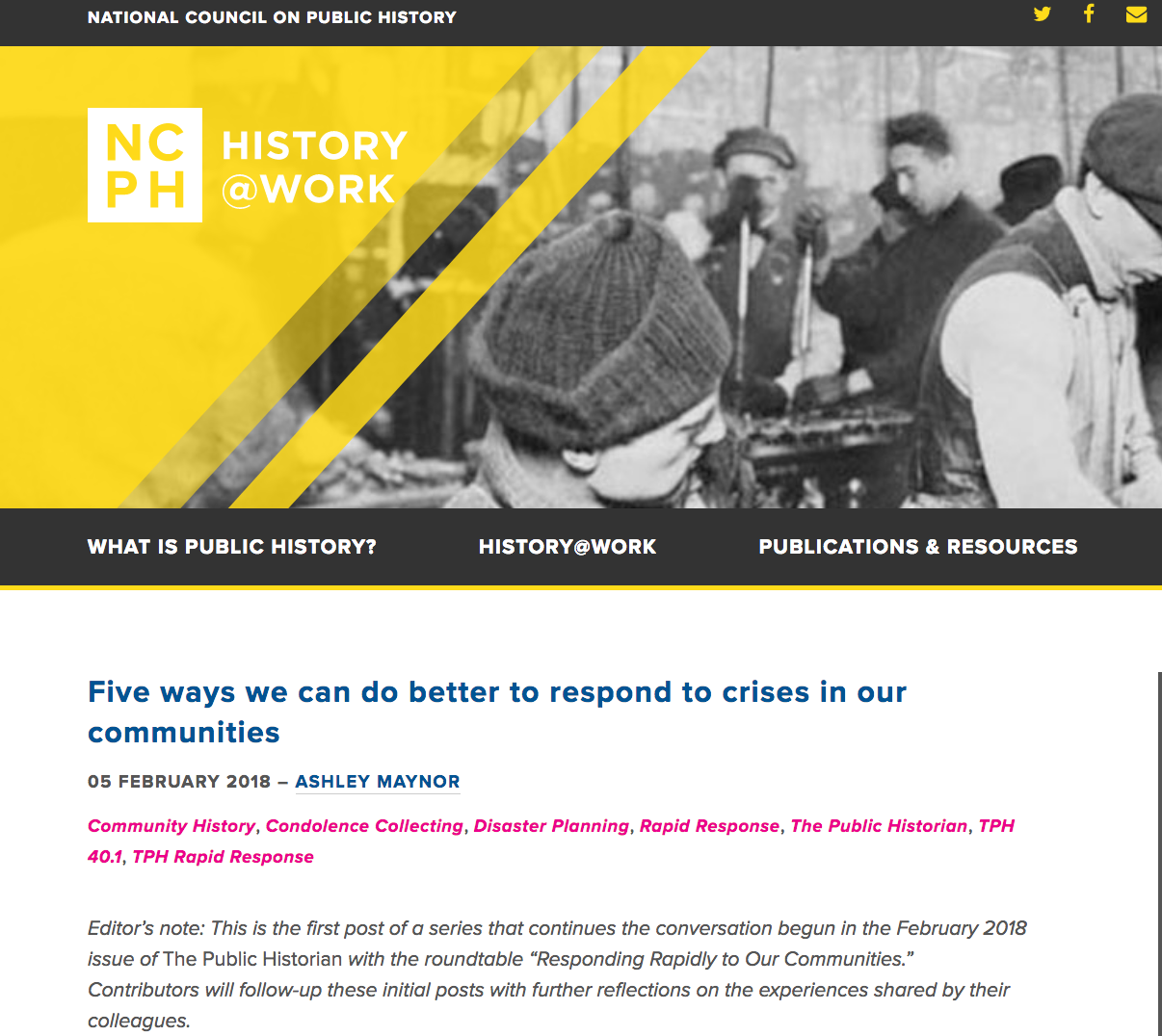 NCPH Blog Post