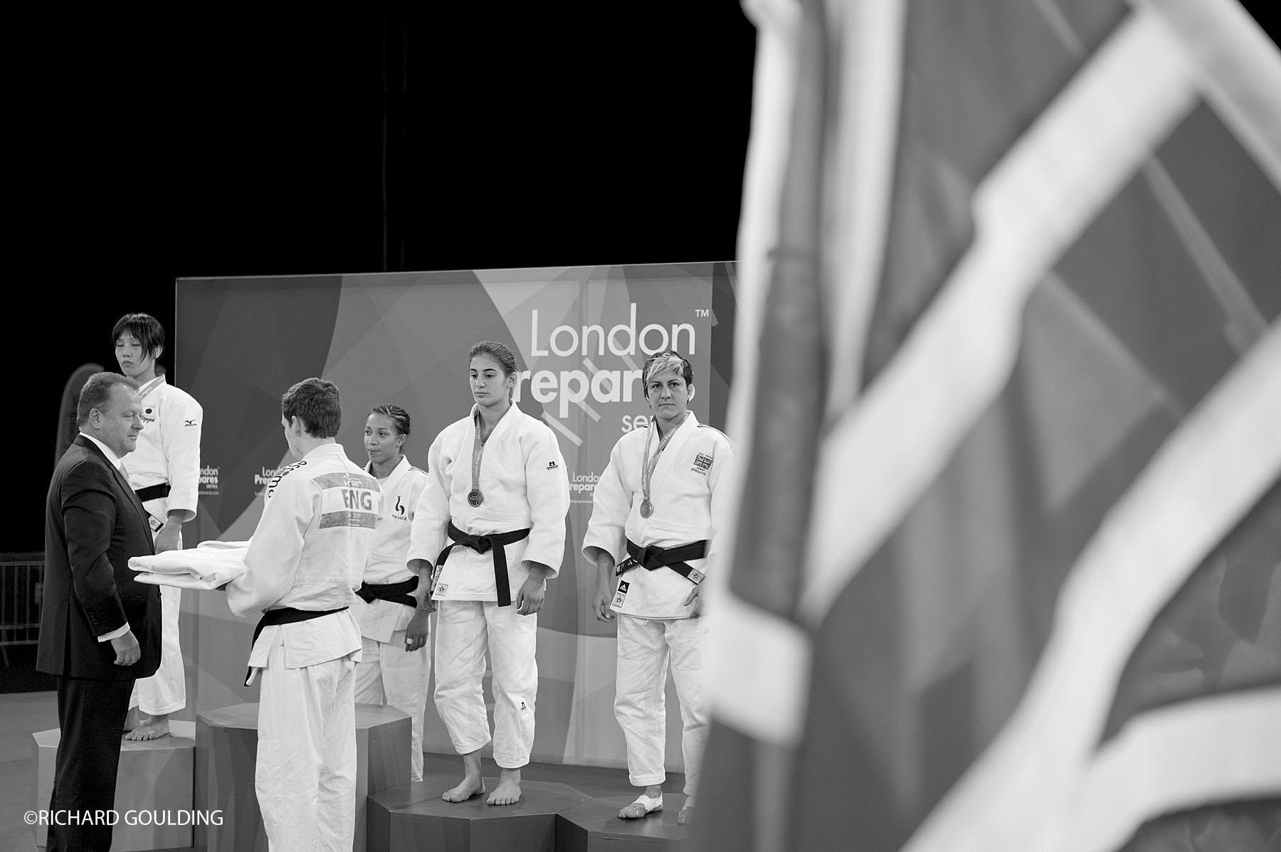Sophioe Cox, winner bronze medal at the London Prepares test event.