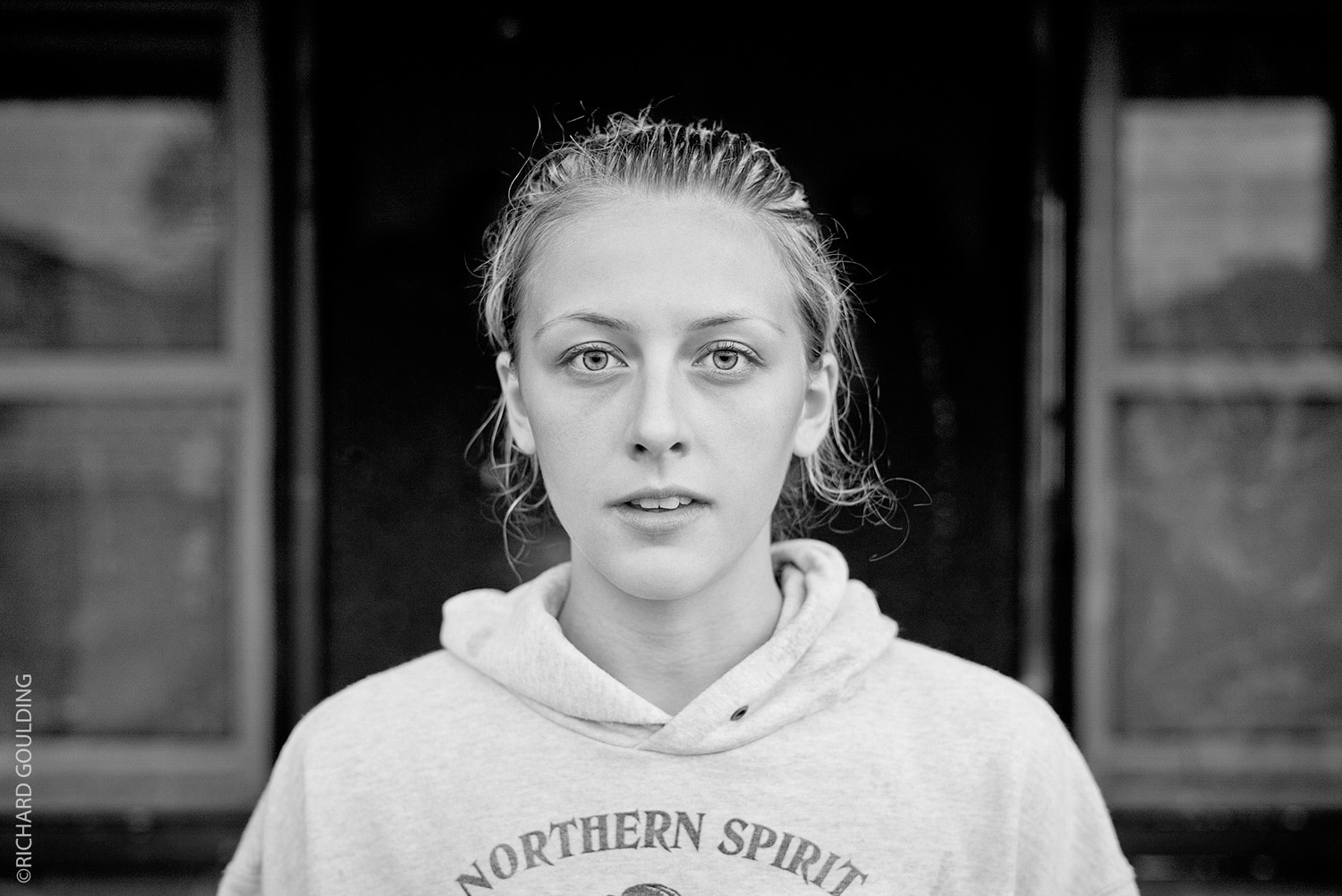 Dakota Ditcheva Manchester based Thai Boxer, training at Sale West. Running at Sale Water park, with here mother Lisa Howarth, by Richard Goulding Photographer