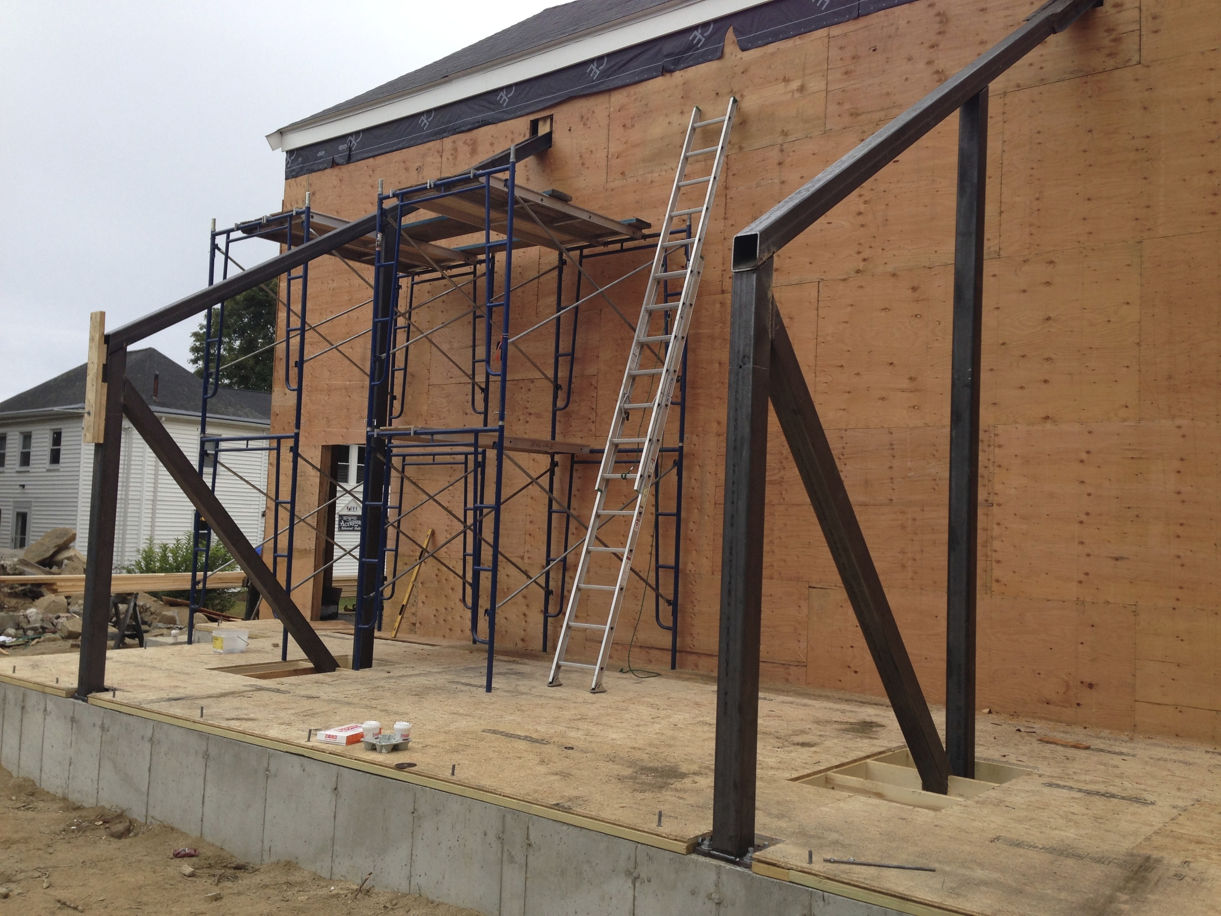 Structural steel fabrication and installation.