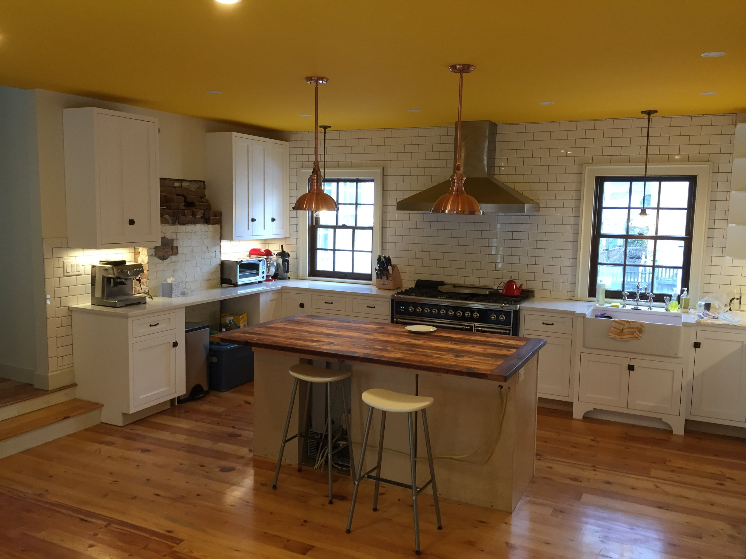 A new kitchen as part of an addition and gut renovation of a mid 1800's home.