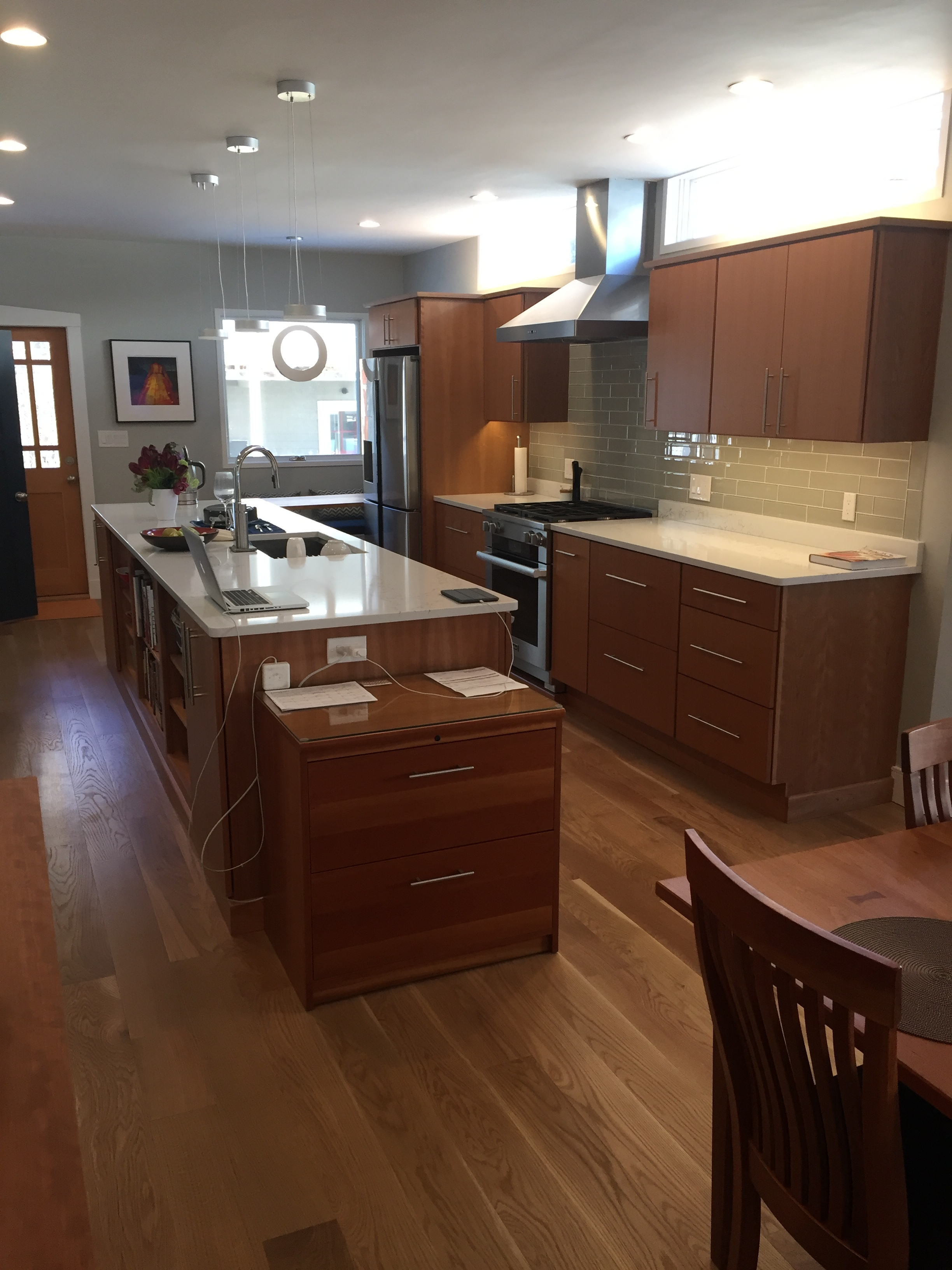 A fully renovated home with new kitchen on display.