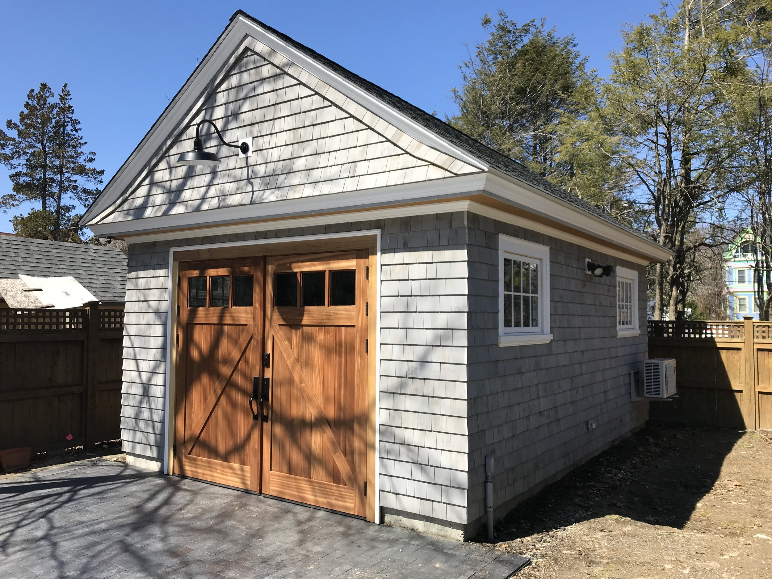 New construction carriage barn.