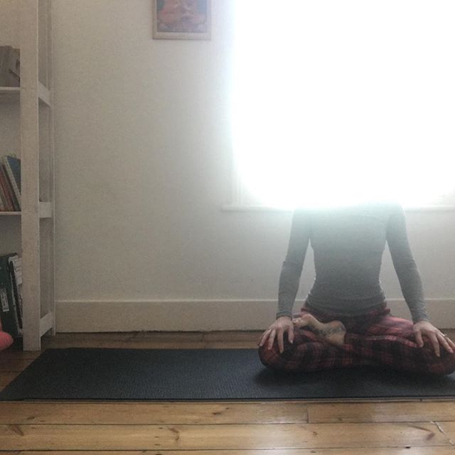 'H E A V E N L Y  H E A D' ~ Want to feel like this??? ~ I have x4 places left at my weekend retreat 'Find Your Flow' in Kent at @the_quaives 30th Aug-1st Sept. 2 days & nights to reset & recharge & clear away the mental clutter using movement, breathing, meditation and chanting. And maybe a sit around a fire 🔥 too. Link in bio 🙏 ~ Sorry for long time no speak. Sometimes I'm lucky enough to be so busy teaching yoga (& its bloody brilliant so I am not complaining!) I let my outward facing stuff slip. ~ However today I had a pause in teaching, so I was doing that thing that yoga teachers do where they pretend to do yoga whilst taking photos of it & this happened!💡 ~ Reckon I'm enlightened now? 🤣 ~ Happy Friday