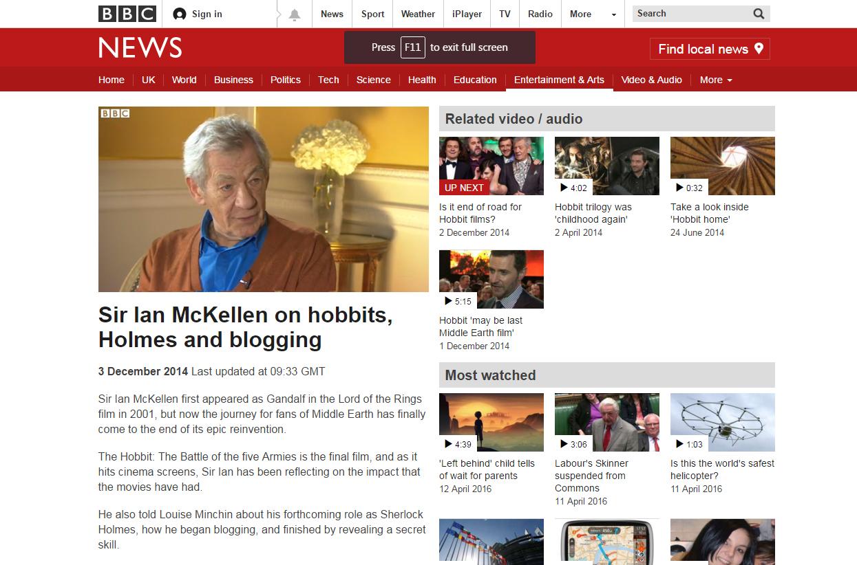 BBC Breakfast Sir Ian McKellen