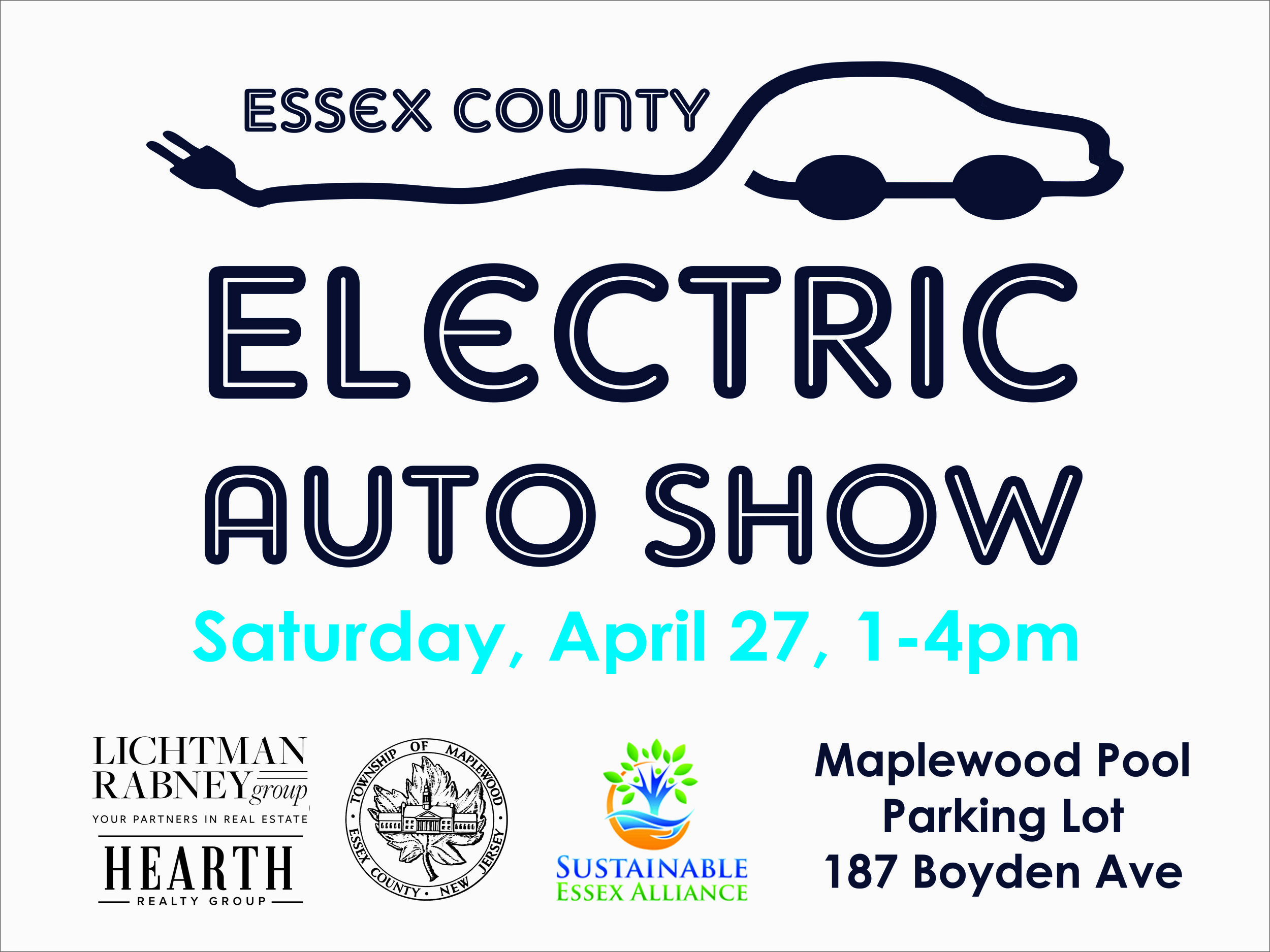 The Sustainable Essex Alliance is hosting a Drive Electric Event on Saturday, April 27, 2019 from 1 pm to 4pm; the rain date is April 28th. The event will be held in the parking lot of the Maplewood Pool located on Boyden Avenue near Springfield Avenue (187 Boyden Avenue).  The goal of Drive Electric Event is to raise awareness of the environmental benefits of electric vehicles and to spread our enthusiasm about electric vehicles as real, plausible, fun and exciting! Car dealers and local owners of electric vehicles will be present to share their EV experience with interested residents in Essex County. This event is organized by Maplewood Green Team in partnership with the Sustainable Essex Alliance.  Another feature of the event, Maplewood's new hybrid police vehicle will be on display. This hybrid police vehicle uses an estimated 60 percent of the fuel of the non-hybrid version, and the battery allows the vehicle to run communications and temperature controls without idling. The manufacturer estimates that the average carbon emission reduction for this vehicle is 27,421lbs of CO2 per year.  If you are interested in bringing a EV Car to show, ESVP here:  https://driveelectricearthday.org/event.php?eventid=1726&fbclid=IwAR0jvjDIDskSXhod495H5PXuSari3UGJ9s_ZIPArsLRP5ONDQPhv8KO0vM8